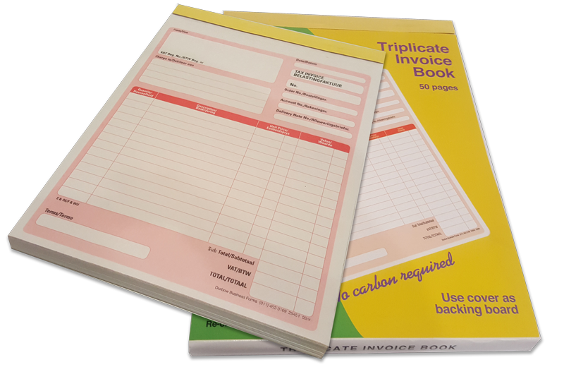 Triplicate Invoice Book YLAND - How to use an invoice book